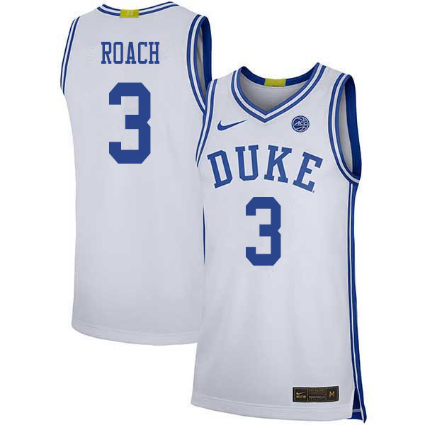 Men #3 Jeremy Roach Duke Blue Devils College Basketball Jerseys Sale-White